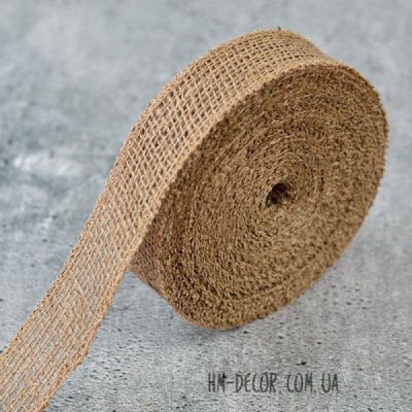 Лента-мешковина натуральная 3.5 см 1 м