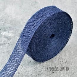 Лента-мешковина синяя 3.5 см 1 м