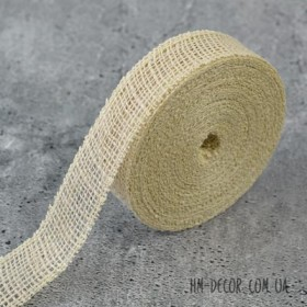 Лента-мешковина светлая 3.5 см 1 м