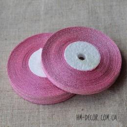 Лента парча 6 мм розовая 23 м