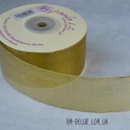 Лента парча 4 см золото 1 м