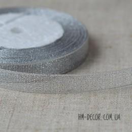 Лента парча 1.2 cм серебро 1 м