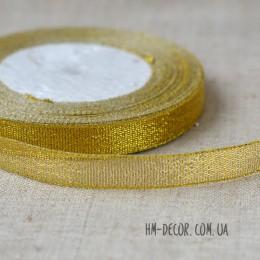 Лента парча 1,5 см золото 1 м