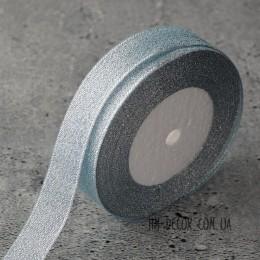 Лента парча 2 см нежно-голубая 1 м
