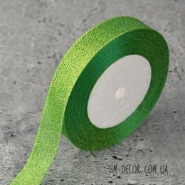 Лента парча 2 см зеленая 1 м