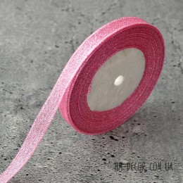 Лента парча 1 см розовая 1 м
