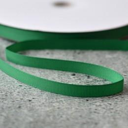 Лента репсовая 1 см зеленая 1 м