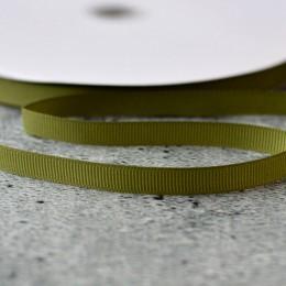 Лента репсовая 1 см оливковая 1 м