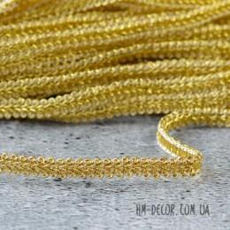 Тесьма косичка 002 золото 8 мм 1 м