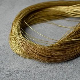 Тесьма тонкая золото 1 мм 1 м