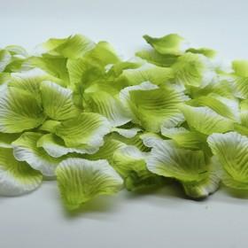 Лепестки роз искусственные бело-зеленые