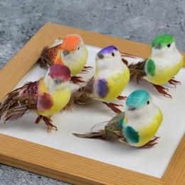 Птичка декоративная на проволоке микс 8*5,5 см