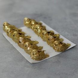 Птичка золото глиттер 3,5 см 1 шт.