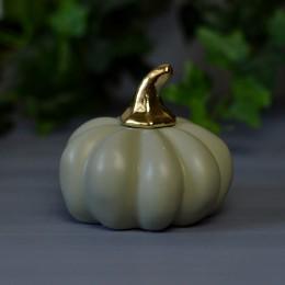 Тыква керамическая 04 фисташка с золотом 4,5*9 см 1 шт.
