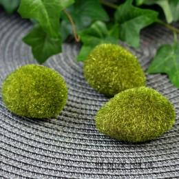 Камень декоративный зеленый 5 см 1 шт.