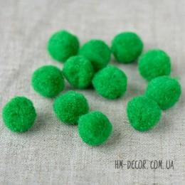 Помпоны зеленые 2 см 10 шт.