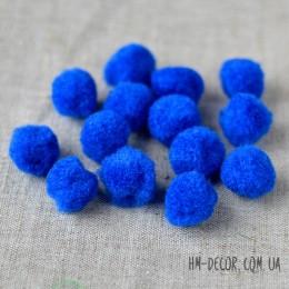 Помпоны синие 2 см 10 шт.