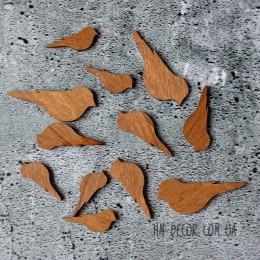 Птички деревянные набор 12 шт.