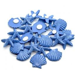 Морские звезды и ракушки на липучке 2 см 1шт.