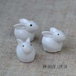 Кролик белый на липучке 1,5*2 см