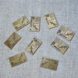 Металлическая подвеска открытка бронза 15*25 мм