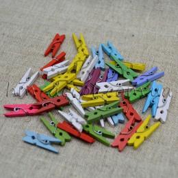 Прищепки декоративные разноцветные 2,5 см