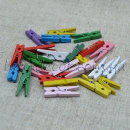 Прищепки декоративные разноцветные 3 см