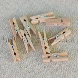 Прищепки декоративные деревянные 3,5 см 1 шт.