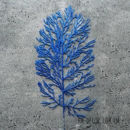 Ветка коралла синяя глиттер 35 см