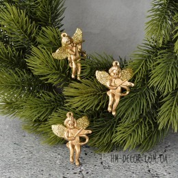 Ангелочек золото пластик 4 см 1 шт.