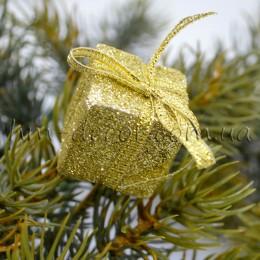 Подарок на проволоке золото 2,5 см
