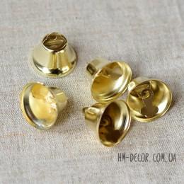 Колокольчик металлический золотой 2 см 1 шт.
