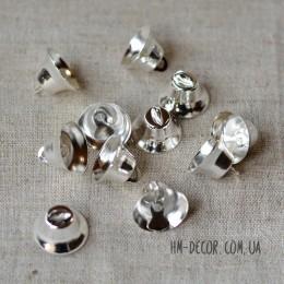 Колокольчик металлический серебряный 2 см 1 шт.