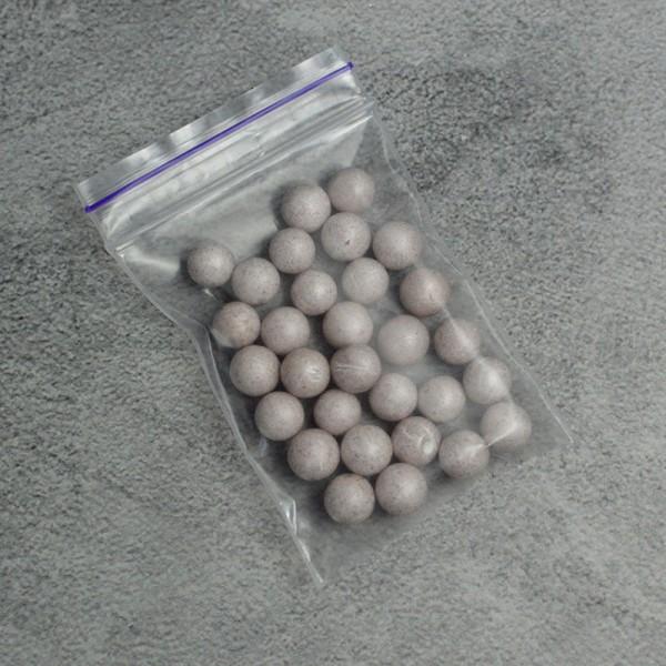 Шарик из пенопласта серый 0,9 см 30 шт.