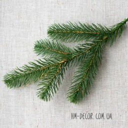 Ветка ели 5-ка зеленая 30 см
