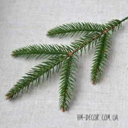 Ветка ели 5-ка мелкая зеленая 30 см