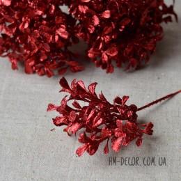Ветка мини красная с блеском 17 см