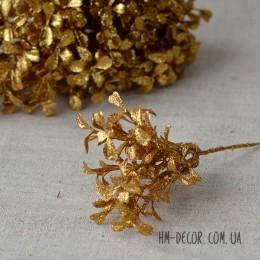 Ветка мини золотая с блеском 17 см