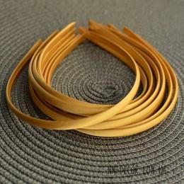 Ободок пластиковый в золотой атласной ленте 1 см