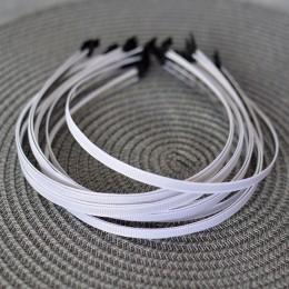 Ободок металлический в белой репсовой ленте 5 мм 1 шт.
