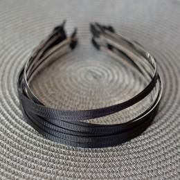 Ободок металлический в черной репсовой ленте 5 мм 1 шт.