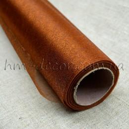 Органза коричневая 50*50 см