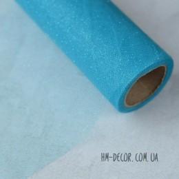 Фатин голубой с блестками 15 см 1 м