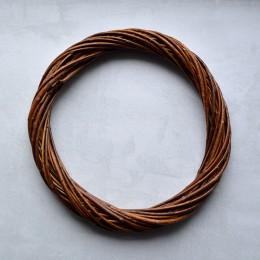 Венок из лозы коричневый тонкий 30 см