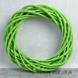 Венок из лозы зеленый 20 см