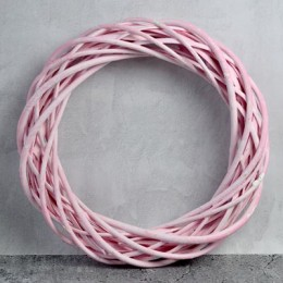 Венок из лозы розовый 20 см