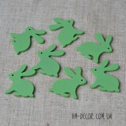 Кролик деревянный зеленый 4*5 см 1 шт.