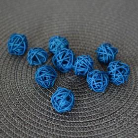 Шарик из ротанга синий  2,5 см 1 шт.