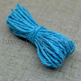 Шнур бумажный голубой 2 мм 5 м