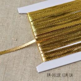 Тесьма шнур золото 5 мм 1 м